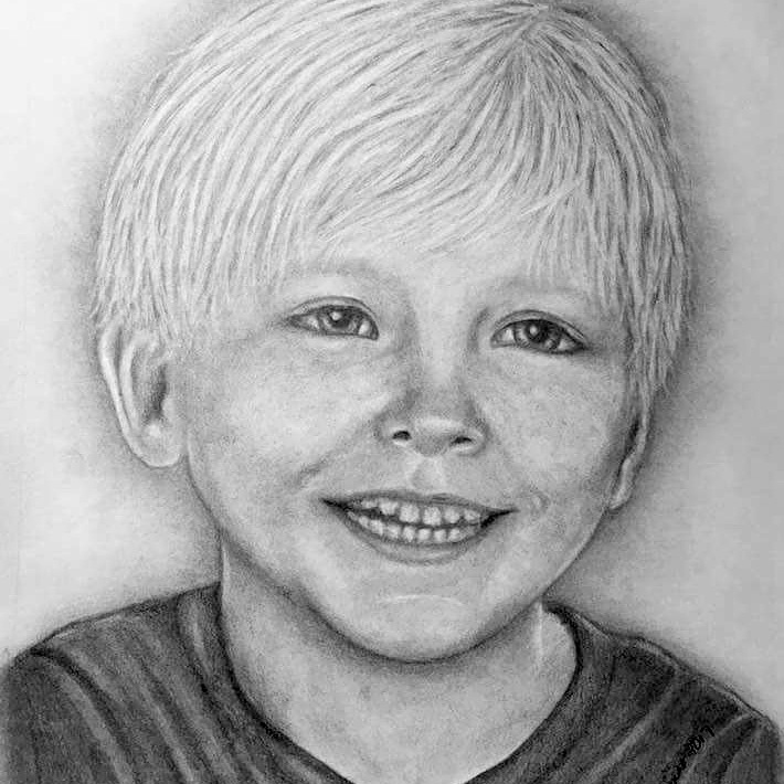 BoyR Pencil Portrait