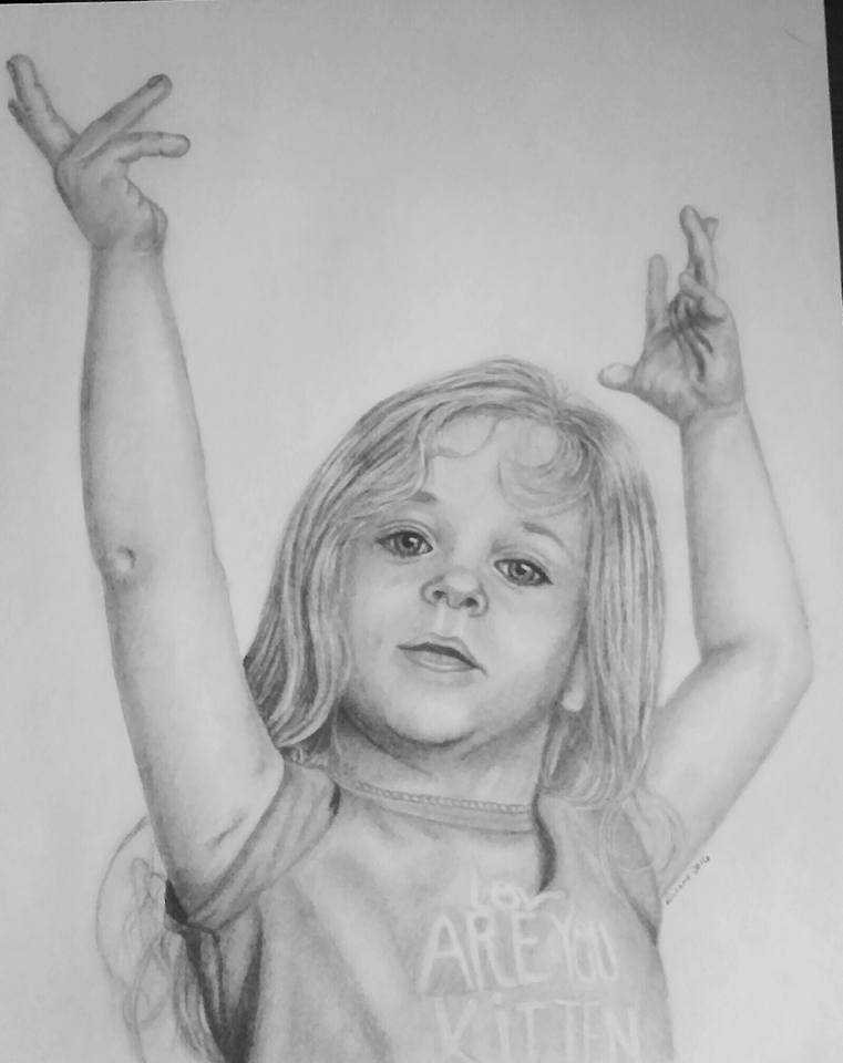Hannah Pencil Portrait 1