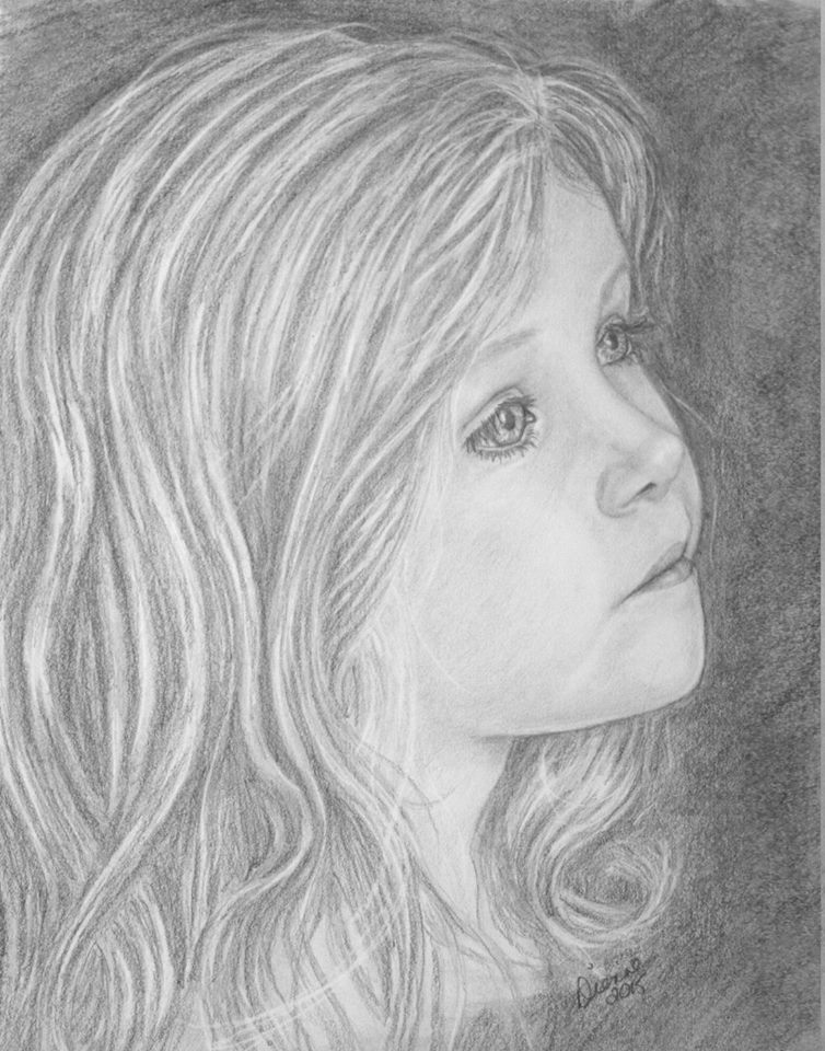 Hannah Pencil Portrait 2