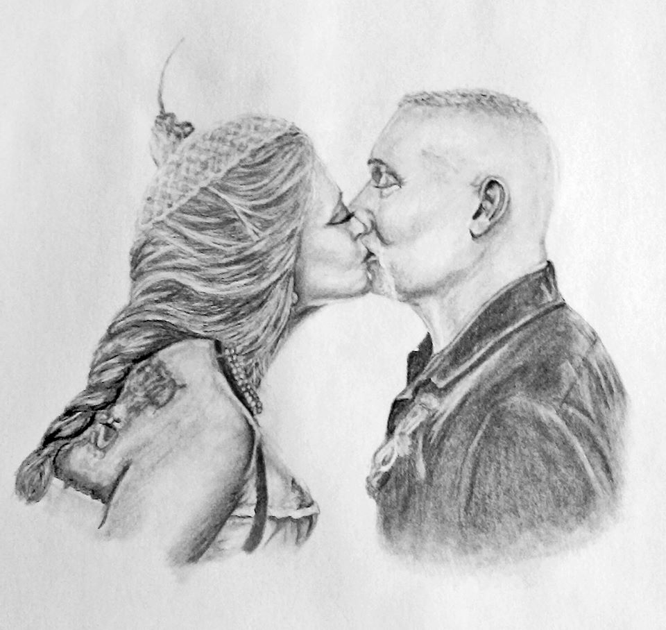 Wedding Pencil Portrait