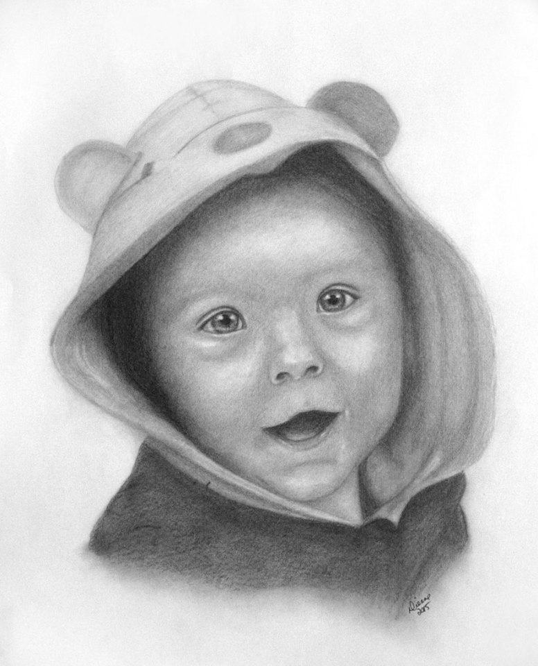 Baby Pencil Portrait 1
